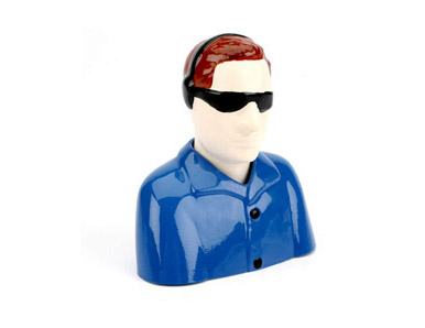 E-Flite 1/9 Civilian Pilot, Blue with Glasses