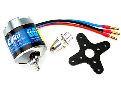 E-Flite Power 60 Brushless Outrunner Motor, 470Kv