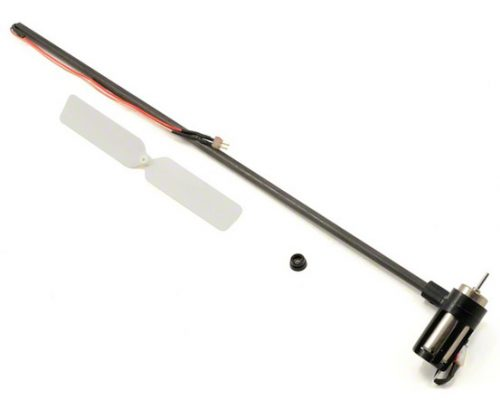 Blade Tail Boom Assembly w/Motor, Mount, Rotor: 120SR