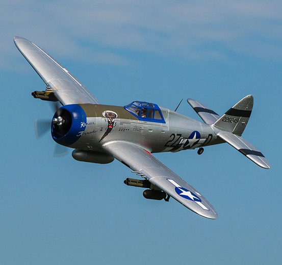 e-flite-p-47-razorback-1-2m-bnf-basic-with-as3x-efl8450-pic-5